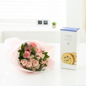 은핑클 꽃다발 + 롤케익(브랜드)