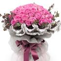 핑크로즈 꽃다발 (50송이)