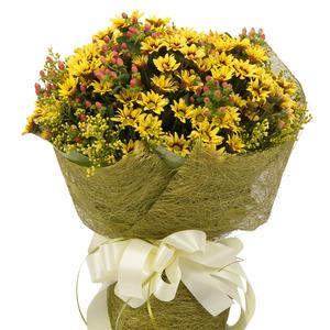 노랑소국 꽃다발 (7호)