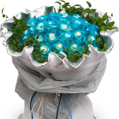 파랑장미 꽃다발 (30송이)
