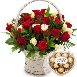 사랑의파수꾼 꽃바구니 + 페레레로쉐 초콜릿