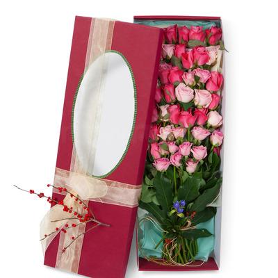 핑크혼합 꽃박스