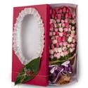핑크혼합 100송이 꽃박스